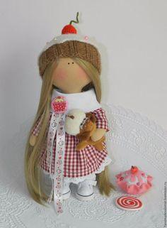 Куклы тыквоголовки ручной работы. Заказать Кукла сластена. Татьяна Саломатова. Ярмарка Мастеров. Кукла, ручная работа, кукла снежка