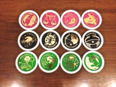 Zodiac Coasters Full Set of 12 Vintage Made in by TheModPasse, $20.00