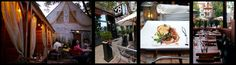 Volo Restaurant Chicago - backyard garden featuring private cabanas and bistro table seating. Date night please!