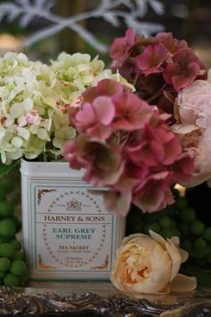 """""""Harney & Sons """"Paris"""" tea tin…a brew reminiscent of all you love about Paris…Paris in a cup…"""" / French Kissed"""