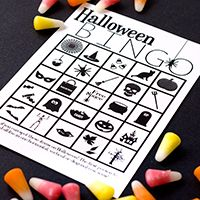 halloween bingo printable - Halloween Party Songs For Teenagers
