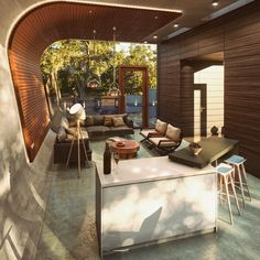 Pool House by Archtecture study) Lumo Studio Arch & Design on Behance Arch Interior, Interior Decorating, Luxury Furniture, Furniture Design, Interior Stylist, Home Reno, Home Projects, Small Spaces, Sweet Home