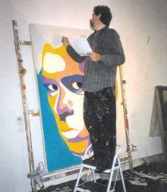 Howard Arkley - Nick Cave portrait