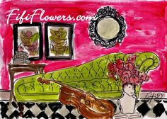 Hot+Pink+Music+Room+by+fififlowers+on+Etsy,+$25.00