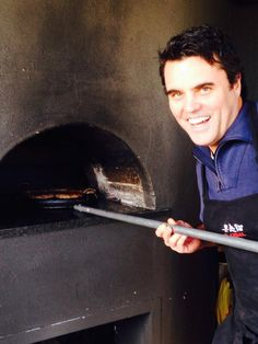 Peter Tempelhoff flippen a burger or 2 in the Mulderbosch pizza oven. Exciting Times Ahead, Oven, Pizza, Ovens