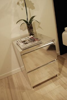 malm mirror nightstand