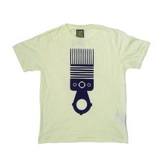 Image of AfriCAN Groom Organic T-Shirt in Ecru and Purple
