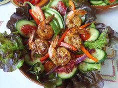 Shrimp Salad With Blood Orange Chipotle Vinaigrette