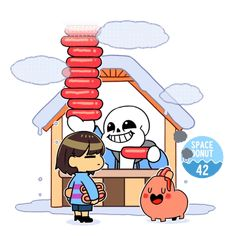 Counting how many headdog can the human child take. Undertale Gif, Undertale Comic Funny, Sans Frisk, Toby Fox, Fandoms, Cartoon Games, Fan Art, Indie Games, Cute Art