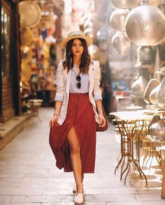 16 Trendy Ideas For Travel Outfit Summer Spain Street Styles Spain Fashion, Look Fashion, Fashion Outfits, Spain Street Fashion, Stylish Outfits, Cute Outfits, Work Outfits, Cute Dresses, Outfits Spring