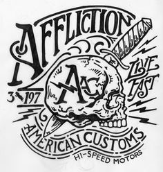 Affliction American Customs #Illustration #design #skull