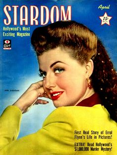 Ann Sheridan on the cover of Stardom magazine, April 1943, USA.