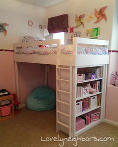 A DIY Loft Bed for my Lovely Little Girl | Lovely Neighbors