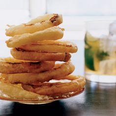 Crispy Onion Rings // More All-American Appetizers: http://www.foodandwine.com/slideshows/all-american-appetizers/1 #foodandwine