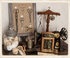 Nice way to display vintage scissors by Guriana