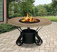 Forget decorative candles - the California Outdoor Concepts Solano Dining Height Fire Pit is outfitted with light that's as useful as it is beautiful. Propane Fire Pit Table, Fire Table, Fire Pit Patio, Patio Table, Dining Table, Garden Treasures Fire Pit, Modern Outdoor Fireplace, Outdoor Fireplaces, Outdoor Living