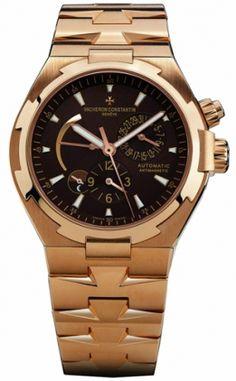 47450/b01r-9229 швейцарские часы Vacheron Constantin Overseas Overseas Dual Time - мужские часы золотые, наручные часы