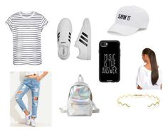 """""""Untitled #77"""" by xolafkax on Polyvore featuring adidas, Charlotte Russe, SO, Casetify and Sabine Getty"""