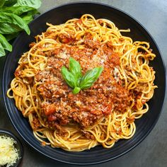 This is our favorite Bolognese recipe and we've been making it for decades now. To us, it is ultimate comfort food. Each ingredient plays a role in the depth of Cooking Spaghetti, Spaghetti Bolognese, Spaghetti And Meatballs, Spaghetti Sauce, Meat Recipes, Pasta Recipes, Healthy Recipes, Pasta Box, Sauce Bolognaise