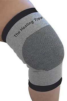 Bamboo Charcoal Knee Support -bamboo charcoal emits far-infrared rays and negative ions. Wear for a few minutes, you will feel heat generated from the bamboo charcoal interacting with your own body heat