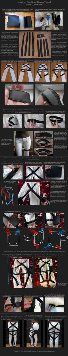 Attack on Titan Belts / Harness Tutorial - Part 1 by neptunyan on deviantART (Need this here for future Cosplay maybe)