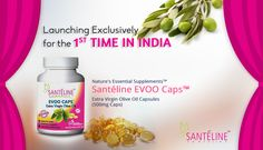 Launching Exclusively for the 1st TIME IN INDIA, ‪‎Nature‬'s ‪Essential‬ ‪Supplements‬, ‪‎Santéline‬ ‪‎EVOO‬ ‪‎Caps‬, ‪‎Extra‬ ‪Virgin‬ ‪‎Olive‬ ‪‎Oil‬ ‪Capsules‬, (500 mg Caps)