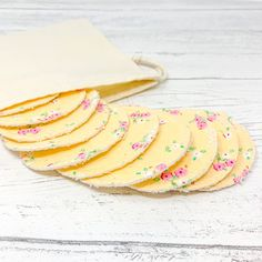 Cotton Facial Rounds Set of 10 and Wash Bag / Face Cloth / Make-up Remover / Reusable Cotton Pads / Facial Scrubbies / Washable Cotton Pads by GingerGreenCo on Etsy How To Make Waffles, Non Organic, Makeup Remover Pads, Cloth Pads, Facial Wash, Make Up Remover, Paper Tape, Wash Your Face