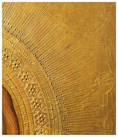 Simone Martini e Lippo Memmi - Annunciazione del Duomo di Siena, dettaglio Sant'Ansano - 1333 - Oro e tempera su tavola - Firenze, Galleria degli Uffizi