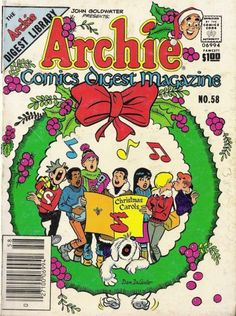 Cover for Archie Comics Digest (Archie, 1973 series) Christmas Comics, Christmas Carol, Xmas, Comic Book Covers, Comic Books, Howard The Duck, Romance Comics, Betty And Veronica, Classic Comics
