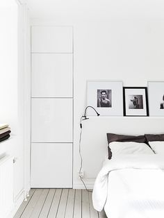 White bedroom via Stadshem