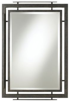 Lineage Wrought Iron 41-Inch-H Minka Lavery Wall Mirror -