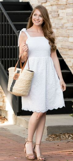 Sugar Lips White Eyelet Dress