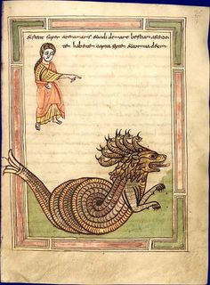 Beast of the Apocalypse, ca.9th century, Valencia, Spain | WetCanvas: Medieval Bestiary: There be Dragons!