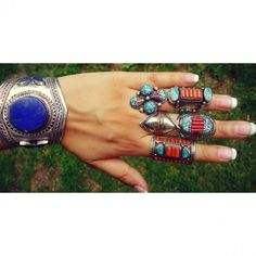 love the indian style turquoise