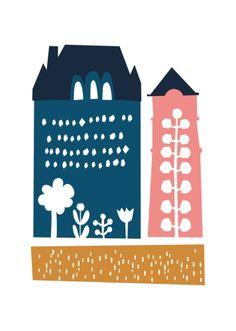 Houses // kids illustration // Darling Clementine