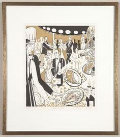 Gourmet Gala, 1981. By Françoise Gilot (French, born 1921). Lithograph.