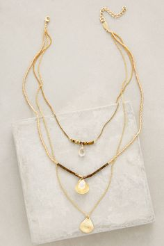 at anthropologie Halfshell Layered Necklace