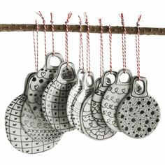 Christmas ornaments by EmelieMagdalena / Nordic Design Collective.  I am so making these next year
