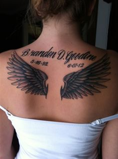 angel wing tattoos for women | Angel Wing Tattoos for Women (8)