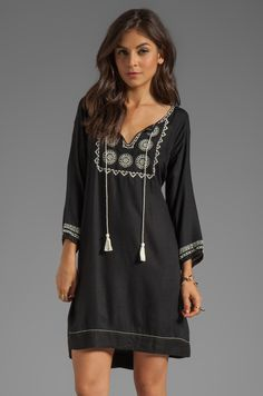 Soft Joie Chauncey Embroidered Dress in Caviar Vanilla from REVOLVEclothing 21543c9db436b