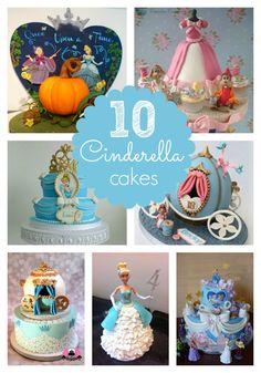 10 Amazing Cinderella Birthday Cakes - Pretty My Party #disney #cinderella #birthday #party #cakes