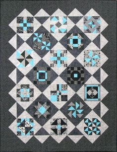 Shades Of Gray Quilt Pattern.. CHECK OUT MY QUITING TUTORIAL VIDEOS for video how to on this block. This link also has links to all her Blocks of the Month for 2015