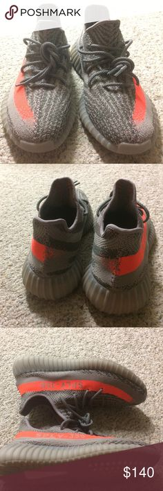 UA yeezy beluga V2 factory material Worn twice. no box. Factory material, check the stitching in side. The pattern is right. It is as comfortable as my retail Bred. Sold the core red one already. Leave the country soon, can't bring them with me. feel free to offer. adidas Shoes Sneakers