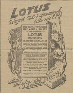 LOTUS, 1924 (Sinterklaas advertentie)