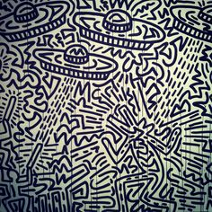 Keith Haring Basquiat Paintings, Keith Haring Art, Memphis Art, Art Walk, Museum Of Modern Art, Moma, Psychedelic, Color Pop, Art Projects