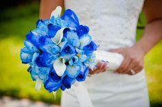 Afbeeldingsresultaat voor bruidsboeket blauwe bloemen