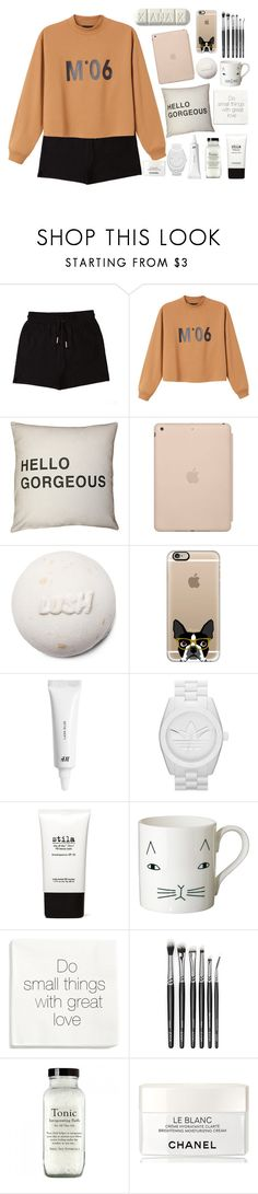 """""""look what you just made me do"""" by adibah-ghulami ❤ liked on Polyvore featuring &nd B, Monki, Black Apple, Casetify, H&M, adidas Originals, Stila, Donna Wilson and Chanel"""
