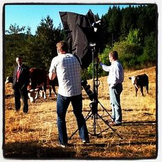 The photo shoot in a pasture near Banks, Oregon | 10.02.12 | Photo by Jeff Fisher