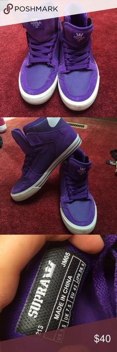 SUPRA HIGH TOPS. purple Supra high tops. size 8.5. great condition. only worn a couple times. Nike Shoes Sneakers