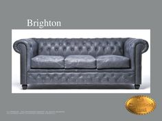 Chesterfield 3 asiento</br>Brighton 3 Vintage Vintage Black